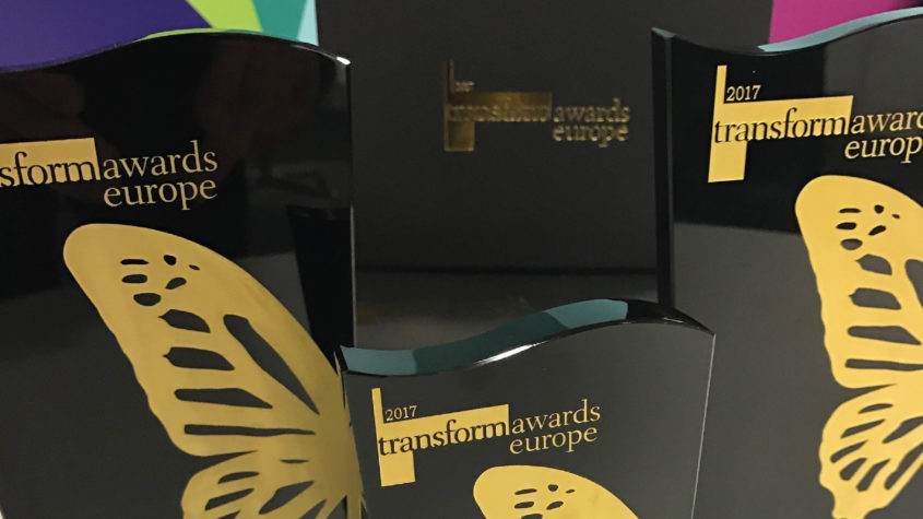 Multiple awards won at Transform Awards Europe